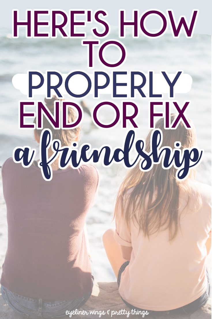 How to deal with a friendship ending
